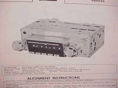 1961 BUICK ELECTRA 225 LESABRE INVICTA CONVERTIBLE AM RADIO SERVICE MANUAL 1