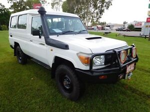 2010 Toyota Landcruiser VDJ78R MY10 Workmate Troopcarrier White 5 Speed Manual Wagon Hidden Valley Darwin City Preview