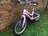 Girls Ridgback pink bike age 3 - 7 years old