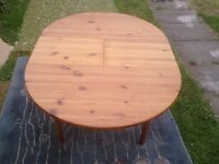 Real Wood Round Dining Table