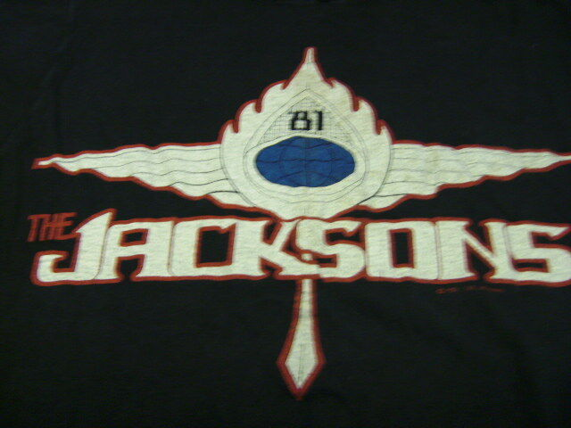 THE JACKSONS 1981 OFFICIAL CONCERT T-SHIRT VERY RARE!!!