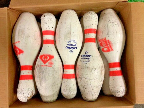 Used Case of  Bowling Pins (1 Case of 10 used pins) Great Target Practice!!