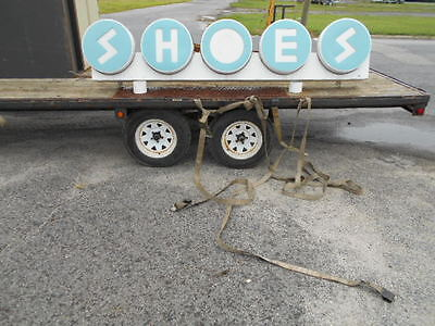 Vintage Shoe Store Advertising Shoes Lighted Sign