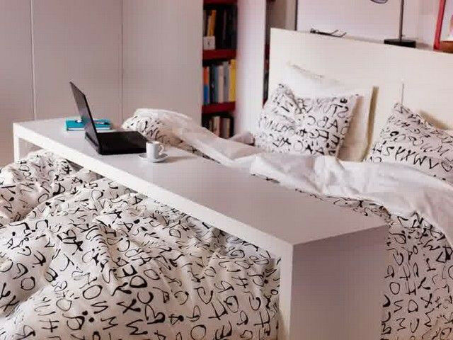 Ikea Malm rolling overbed table in white - king size | in ...