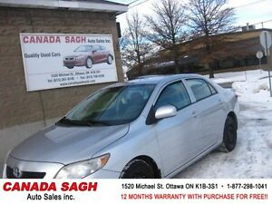 2009 TOYOTA COROLLA AUTO, ALL PWR, 12WRTY+SAFETY$ 6990
