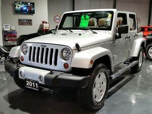 2011 Jeep Wrangler Unlimited SAHARA 4DR 4X4 **AUTOMATIC & LEATHE
