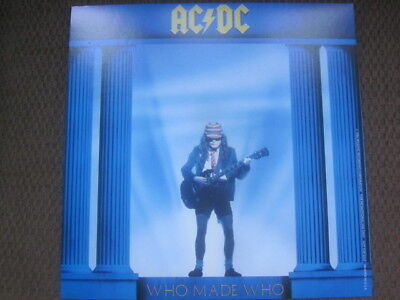 AC/DC 1986 Who Made Who 12x12 Promo Cover Flat Poster 2-Sided Maximum Overdrive