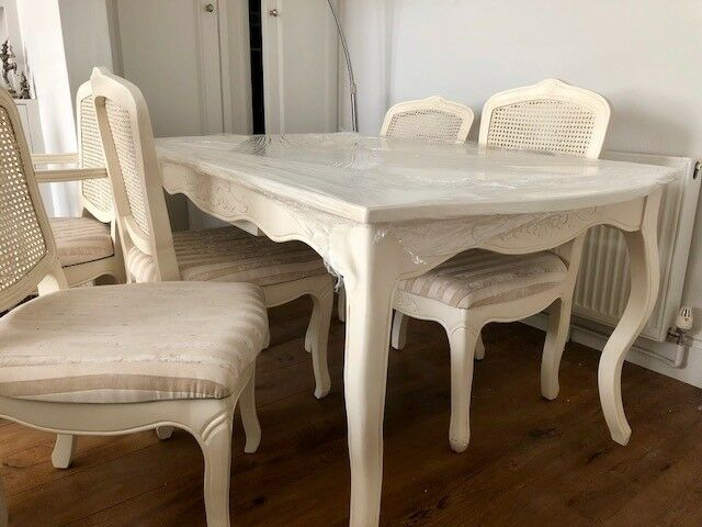 Beautiful Laura Ashley/Shabby Chic Style Dining Table And Chairs
