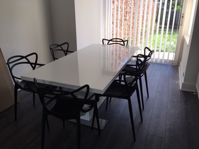 Barker And Stonehouse Giotto Extending Dining Table With 6 Kartell