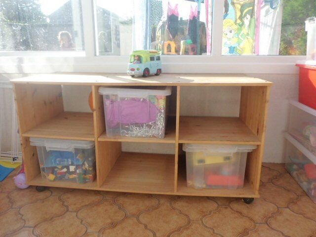PINE STORAGE UNIT TROLLEY SHELVING CHILDS STORAGE FROM ARGOS & PINE STORAGE UNIT TROLLEY SHELVING CHILDS STORAGE FROM ARGOS | in ...