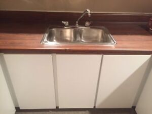 Stainless Steel Double Mini Bar Sink With Tap.