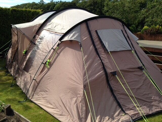 Superb Quality Outwell Nevada L - family tent (6man) - with Outwell Side Extension & Superb Quality Outwell Nevada L - family tent (6man) - with ...