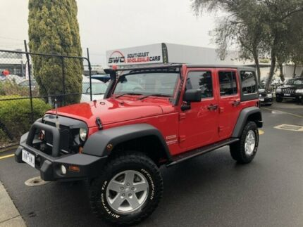 2011 Jeep Wrangler JK MY2011 Unlimited Sport Red 6 Speed Manual Softtop