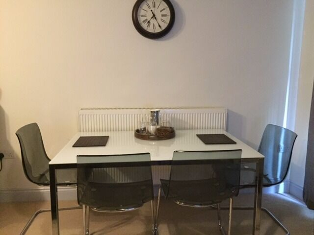 Ikea TORSBY Table And 4 TOBIAS Chairs