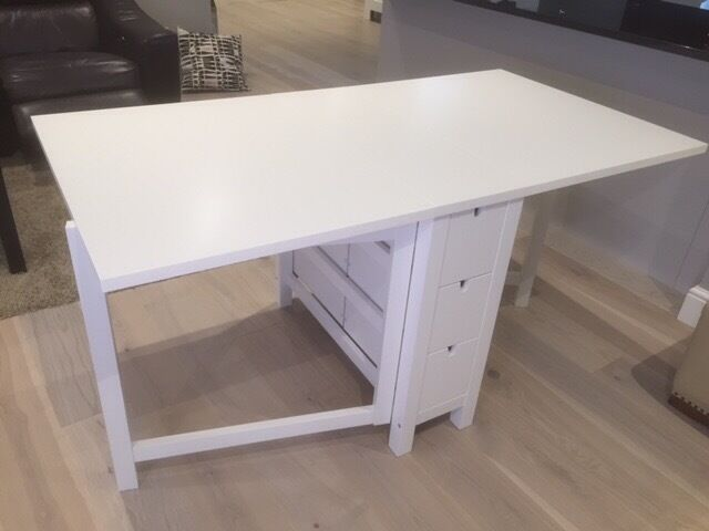 ikea norden folding table with 4 dining chairs