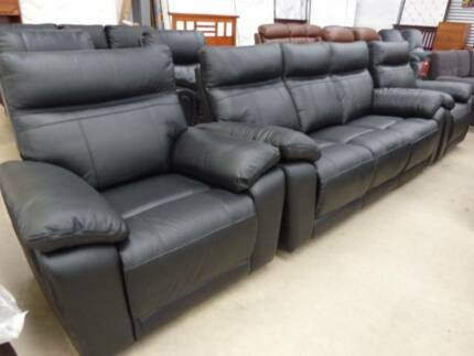 NEW MODERN LEATHER LOUNGE SUITES U0026 NEW PILLOW TOP MATTRESSES Part 45