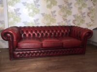 3 Seater Chesterfield Sofa For Sale.