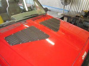 Lovely Jeep XJ Cherokee Louver Aluminum Hood BoltOn Vent Panels Kit RodLouvers  Cooling (Fits: 2000 Jeep Cherokee)