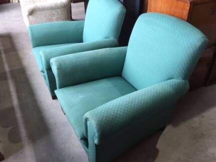 Vintage Fire Side Lounge Chairs.