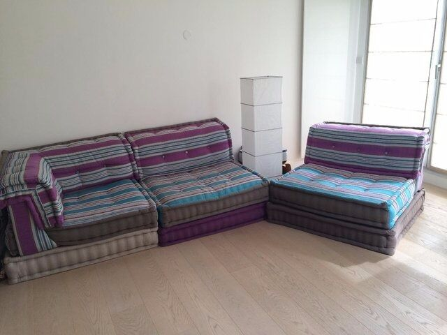 Mah Jong Sofa Set By Roche Bobois (2 Armless Chairs, 1 Corner Seat U0026