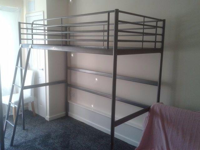 ikea loft bed frame single high sleeper bed svarta 200 cm x 90 cm - Loft Bed Frame