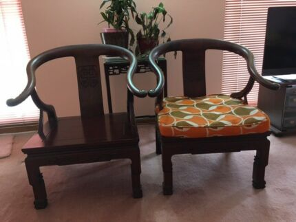 Chinese Furniture   Rosewood Armchairs / Chairs