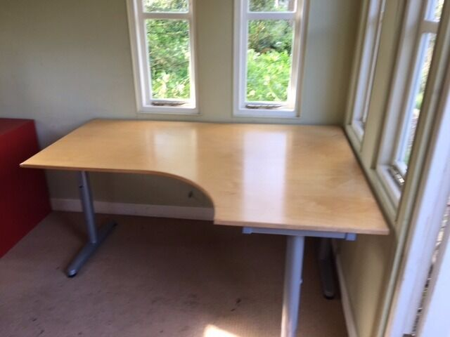 High Quality Office Corner Desk Ikea Galant With T Legs   Right Hand Pictures