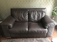 Used 2 Seater Brown Leather Sofa Part 85