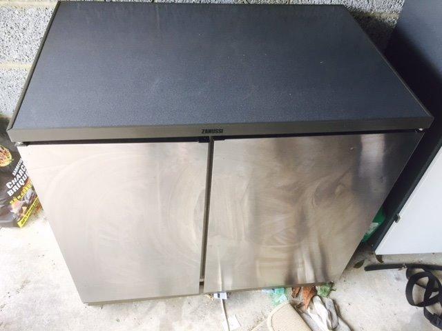 Zanussi Under Counter Stainless Steel Fridge/freezer (double Door)