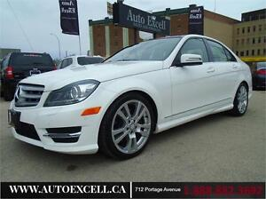2013 Mercedes-Benz C-Class C 350 4MATIC RARE WHITE ON WHITE
