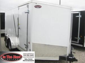 7x14 US Cargo V-nose Enclosed trailer with rear ramp