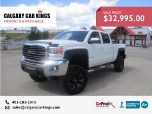 2015 GMC Sierra 2500HD SLE 4WD CREW CAB 6Inch Lift Finance me