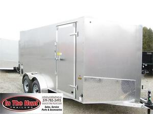 2018 Ameralite 7x14 all aluminum enclosed with rear ramp