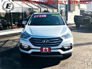 2017 HYUNDAI SANTA FE SPORT AWD WITH LEATHER/SUNROOF