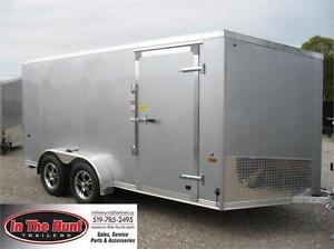 2018 Ameralite 7x14 Aluminum Enclosed with rear ramp