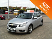 2012 Chevrolet Cruze 1.6i auto LT LOW MILEAGE 19004 MILES (FINANCE AVAILABLE)