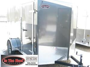6x10 V-Nose Enclosed Trailer with rear ramp door