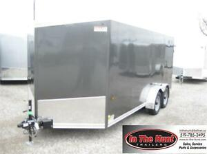 7x16 US Cargo V-nose Enclosed Trailer with medium duty ramp door