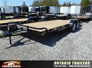 BIG TEX 70CH 7'X20'(18'+2' BEAVERTAIL) TANDEM AXLE CAR HAULER