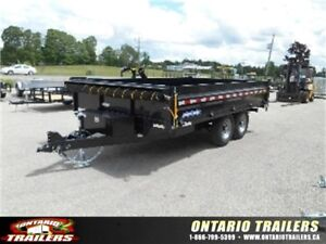 """SURE-TRAC 96""""X14' DECKOVER DUMP WITH FOLD-DOWN SIDES"""