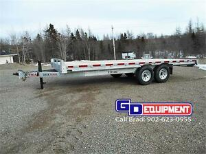 MAY SPECIALS  7' x 12' dump trailer, 20' x 8 1/2' Deckover