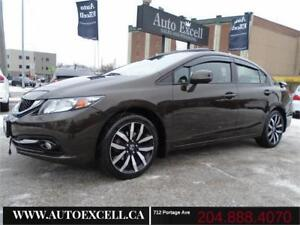 2013 Honda Civic Sdn Touring Back Up Cam, Heated Seats, Leather