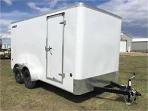 NEW 2018 7X14 ENCLOSED TRAILER PICK UP PRICE DELIVERY ALSO AVAIL