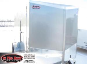 6X10 V-Nose Enclosed Trailer with rear barn doors