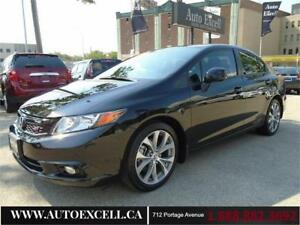 2012 Honda Civic Sdn Si 2.4L 4CYL MANUAL NAVI SUN ROOF A/C