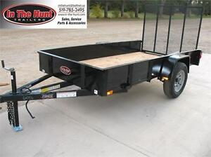 5X10 Utility Trailer with Steel Sides only 3 left