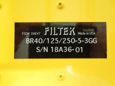 Tunable Bandreject Filter Filtek Br40125250-5-3gg 125 To 250mhz 10mhz Bw