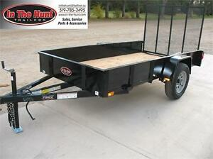 5X10 Utility Trailer with Steel Sides only 3 left London Ontario image 1