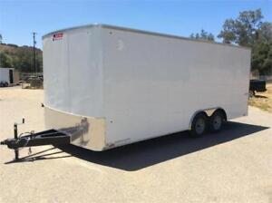 NEW 2018 8.5X16 18 20 24 28 ENCLOSED CLEAROUT LOWEST PRICES