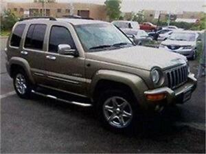 2004 JEEP LIBERTY LIMITED 4X4 3680$ FINANCEMENT MAISON 100% APPR